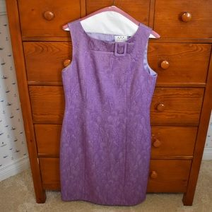 David Meister Purple Dress